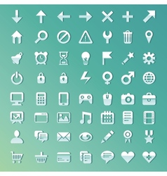set with internet and technology icons vector image vector image