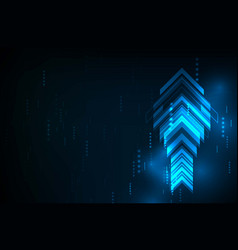 abstract blue arrows technology communicate vector image vector image