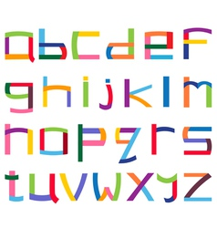 colorful lower case alphabet vector image vector image