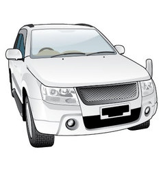 luxurious sporty car vector image vector image