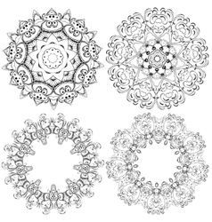 Mandalas in graphic style vector image vector image