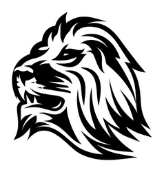 monochrome pattern with lions head for a logo or vector image