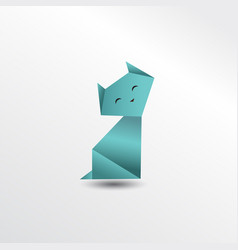 origami cat vector image vector image