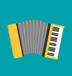 accordion icon flat vector image vector image