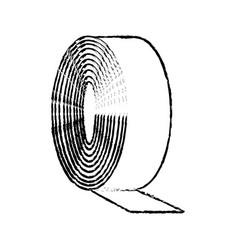 bandage medical roll plaster aid sketch vector image