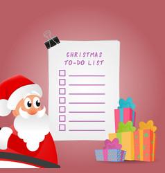 Beautiful christmas to-do list vector