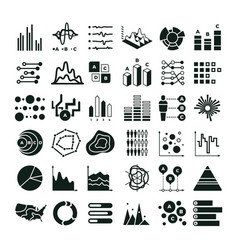 diagram and infographic icons business vector image vector image