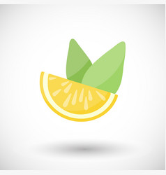 lemon and mint flat icon vector image