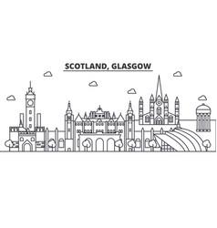 scotland glasgow architecture line skyline vector image