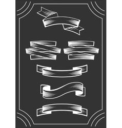 Banners On Blackboard vector image