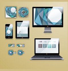 Modern application template design for corporate vector