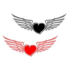 retro heart tattoo vector image