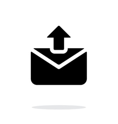 Sending mail icon on white background vector image vector image