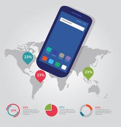 world map global pointer international info vector image
