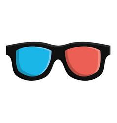 3d movie glasses icon vector