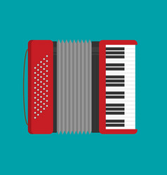 Accordion icon flat vector