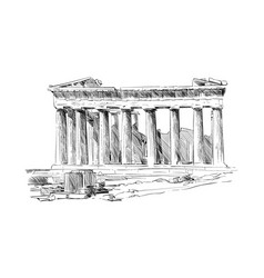 acropolis of athens the parthenon athens greece vector image