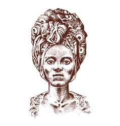 African woman portraits of aborigines vector
