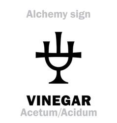 Alchemy acid acidum vinegar acetum vector