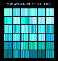 aquamarine color gradients collection bright vector image