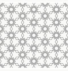 Arabesque seamless pattern line art vector
