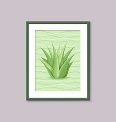 art painting with succulent vector image