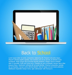 Back to school and supplies stationery vector