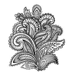 Beautiful Indian paisley ornament vector image