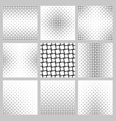 Black and white angular square pattern set vector
