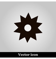 Black flower icon on grey background illus vector image