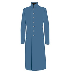 Blue coat vector image