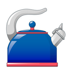 blue kettle icon cartoon style vector image