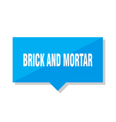 Brick and mortar price tag vector