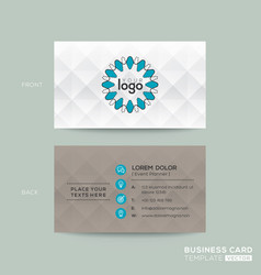 business card with grey pattern background vector image vector image