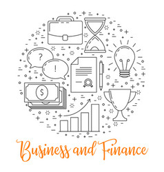 Business thin line design vector