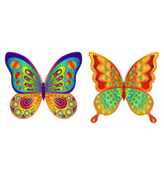 butterflies abstract multi-colored image vector image