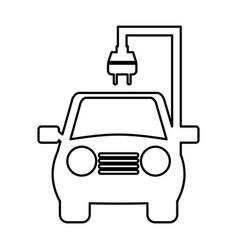 Car with energy plug vector
