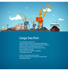 Cargo Sea Port and Text vector