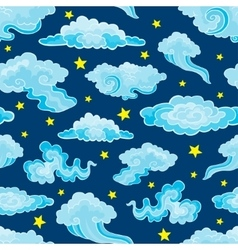 Cartoon Color Clouds Seamless Pattern Background vector