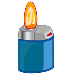 cigarette lighter and flame vector image