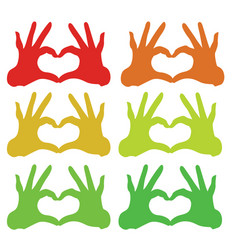collorfull hand icon vector image