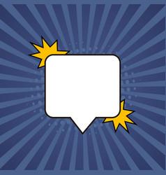 Comic speech bubble retro burst background in pop vector