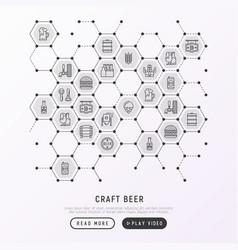 craft beer concept in honeycombs vector image