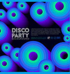 disco party poster invitation card vector image
