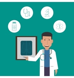 Doctor icon Medical and Health care design vector image vector image