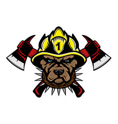 dog firefighter breed pit bull terrier vector image