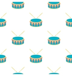 Drum cartoon icon for web and mobile vector