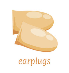 Ear plugs on a white background hearing vector