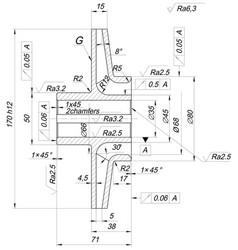 expanded sketch of engineering wheel vector image