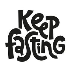 Fasting diet lettering vector